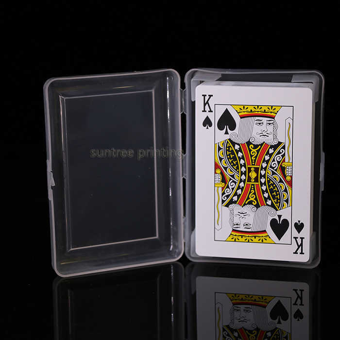 Plastic playing cards with plastic box - 600172
