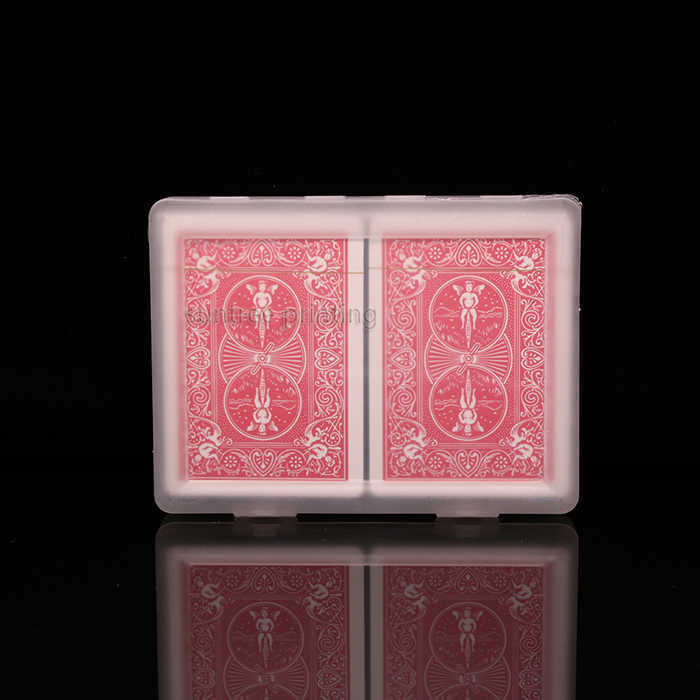 Plastic playing cards with double deck