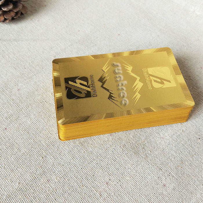 Custom Gold Playing Cards